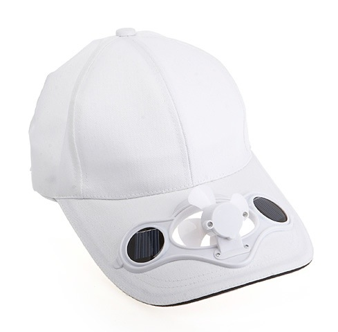 fanhat Solar Fan Cap   Will keep you face cool in hot summer