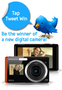 win tap and take [Samsung Camera giveaway event] : Be the winner of a new digital camera!