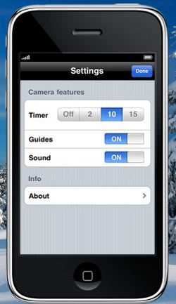 Camera Self Timer App for iPhone