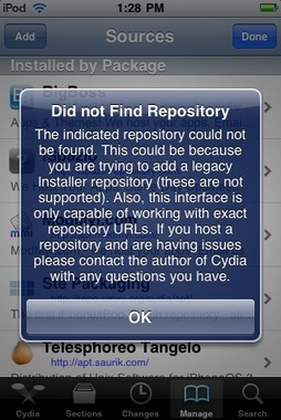 did not find repository error Solving Did not Find Repository Error in iPhone