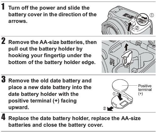 How to Solve Change the batteries Problem   Canon PowerShot S2 IS