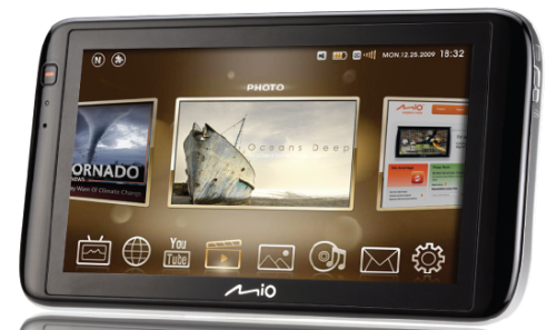 mio moov v780 Mio to release Moov V780, a 7 inch Tablet