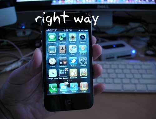 right way Solving Bad Reception Problem of iPhone 4