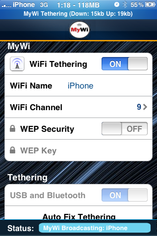 MyWi iPhone How to Enable WiFi Tethering on iPhone running iOS 4