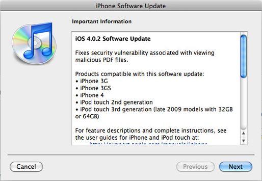 Jailbreak iPhone 3G running iOS 4.0.2 with Redsn0w