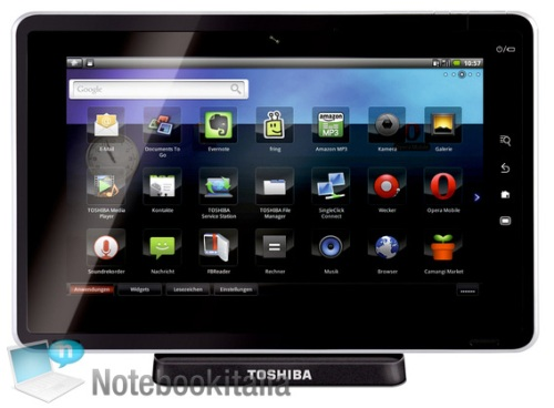 toshiba folio 100 Toshibas Tablet named Folio 100 plays Host to Froyo and Tegra 250