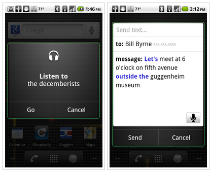 voice actions android Google outs Voice Action App for Android smartphones