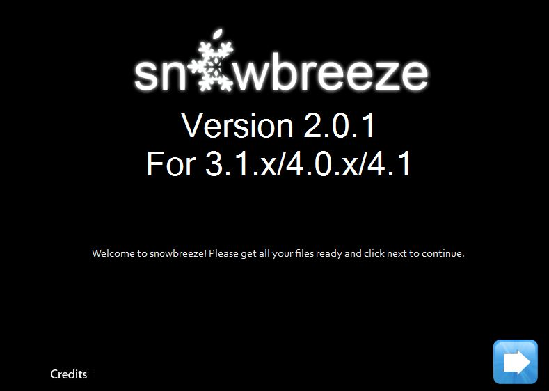 sn0wbreeze 1 Jailbreak iPhone 3GS / 3G and iPod Touch 3G / 2G on iOS 4.1 using Sn0wbreeze 2.0.1