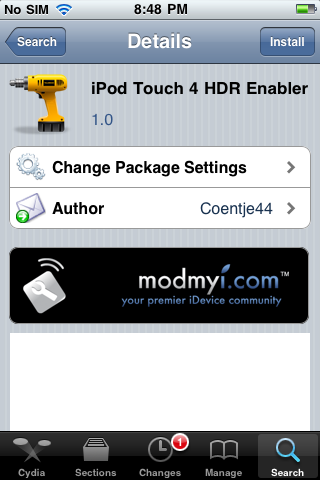 iPod Touch 4 HDR Enable HDR Photos on iPod Touch 4 running iOS 4.1