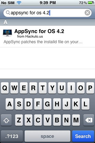 IMG 00481 Install AppSync 4.2 for iOS 4.2.1 from Cydia   How to Guide