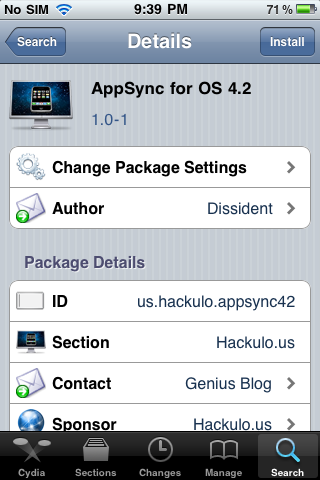 IMG 00491 Install AppSync 4.2 for iOS 4.2.1 from Cydia   How to Guide