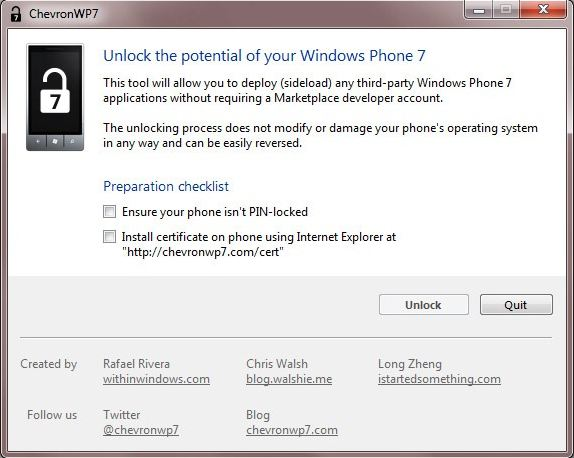 WP7 unlock Unlock / Jailbreak for Windows Phone 7 Available for Download