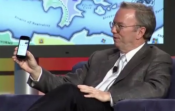 nexus s Eric Schmidt: Nexus S with Gingerbread coming out in Next Few Weeks