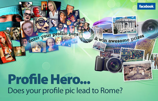 sony facebook Pose For Prizes in Sony's Profile Hero Photo Contest