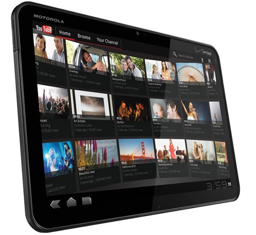 motorola xoom 1 Motorola Xoom Android 3.0 Tablet Detailed Specifications