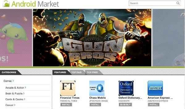 android market Android Market finally gets a Website