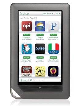 ShopApps slide Barnes & Noble rolls out an update for the Nook Color