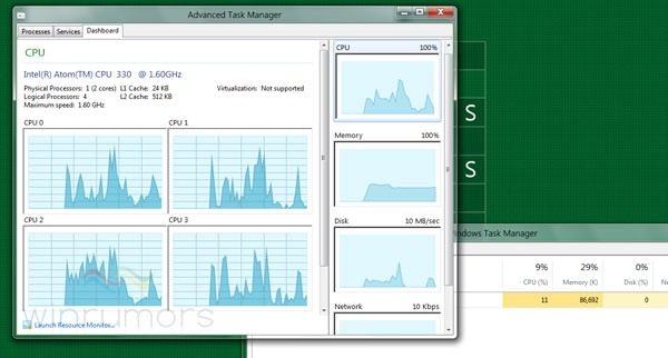 windows 8 task manager Windows 8 Leak shows Task Manager Renovation