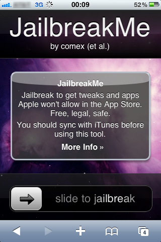 JailbreakMe Jailbreak iOS 4.3.3 on iPad 2, iPhone 3GS, 4 and iPod Touch 4 by JailbreakMe 3.0