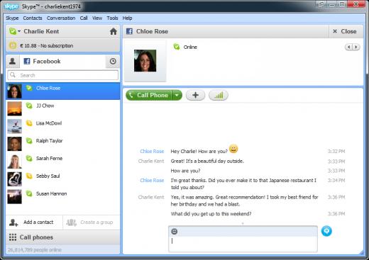 Skype 5.5 Skype 5.5 for Windows Released, Better Facebook Integration