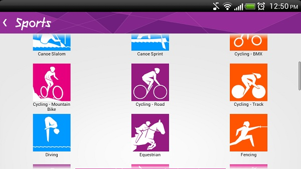 App organizing all sports Keeping track of Olympics 2012 on Smartphones