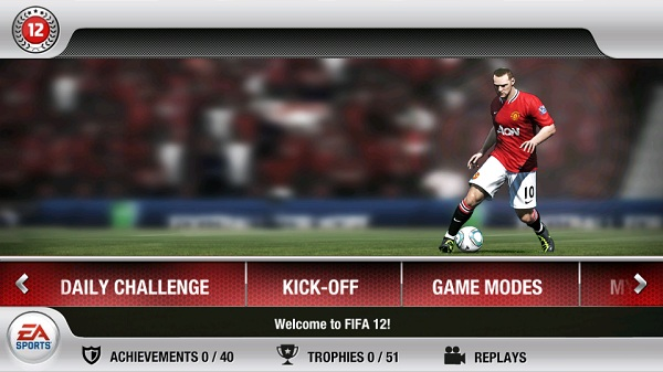 FiFa 2012 Interface