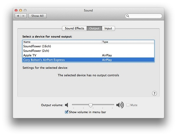 airplay 1 Using Airplay on Mountain Lion