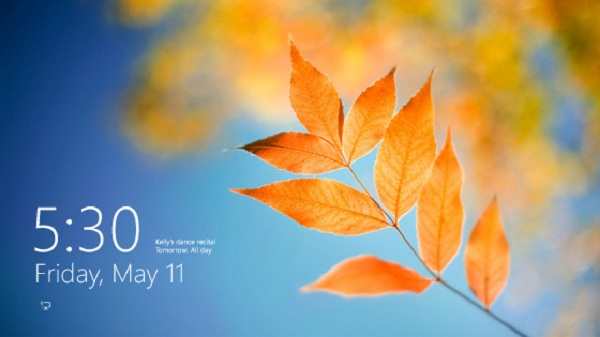 lock screen preview for windows 8
