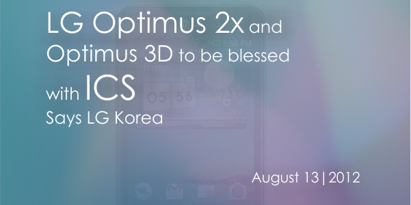 Banner Optimus LG Optimus 2x and Optimus 3D getting ICS