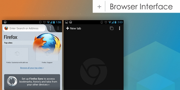 Browser Interface Android Browsers   Firefox vs Chrome