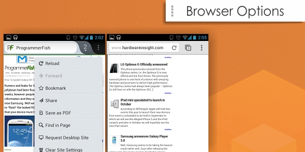 Browser options Android Browsers   Firefox vs Chrome