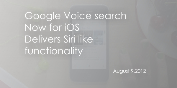 Google Voice banner Google Search App for iOS updated, Ads voice based Q&A