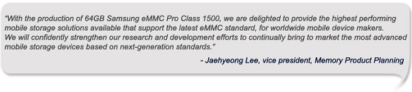 Quote Jaehyeong Lee Samsung begins production of fastest NAND memory for phones and tablets