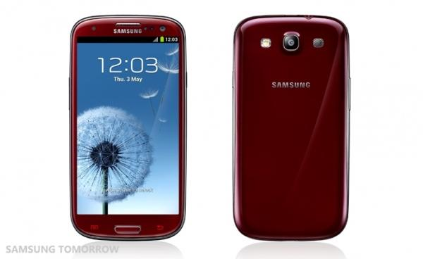 Red Samsung Galaxy S III shows up in new colors