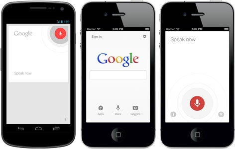 Voice search on iPhone