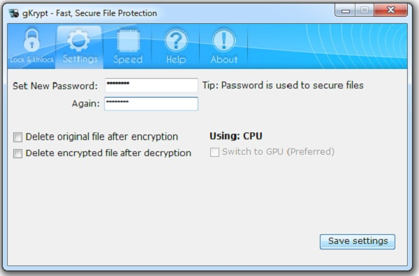 gKrypt setting up Super quick file encryption by gKrypt, Uses GPU