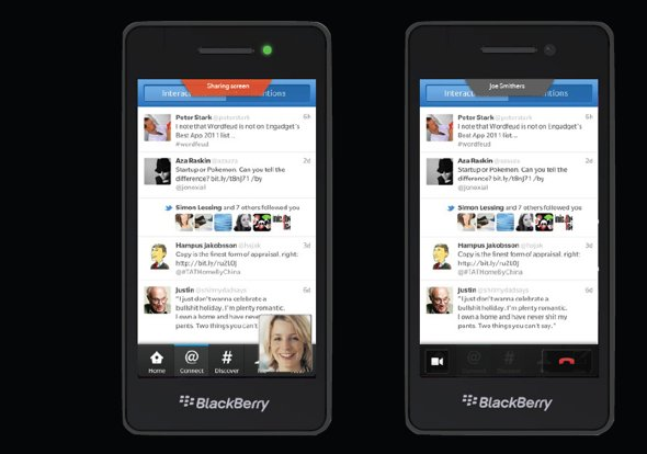 Blackberry screen sharing RIM plans to make an impact with Blackberry OS 10