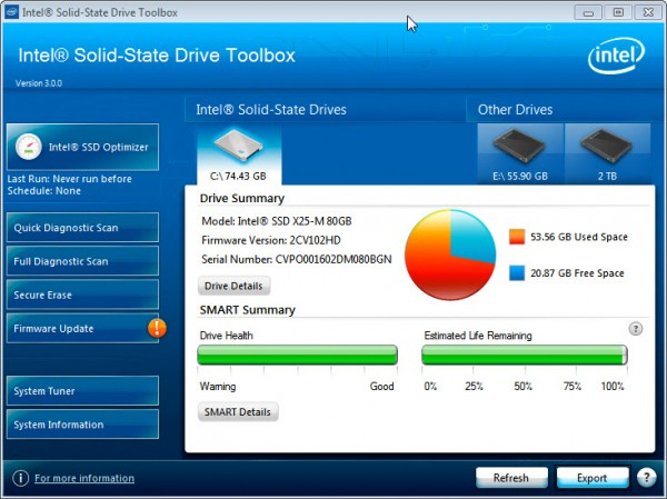SSD toolbox for ssd Use Intel SSD Toolbox to get maximum SSD Performance