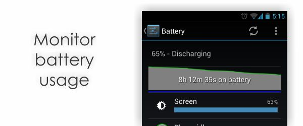 battery usage 6 Tips to increase Android Battery Time