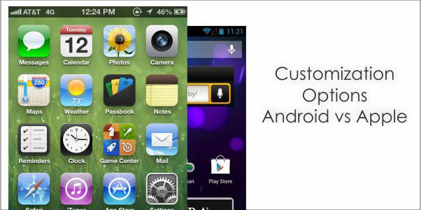 customization iOS 6 vs Android 4.1 Jelly Beans, A Comparison
