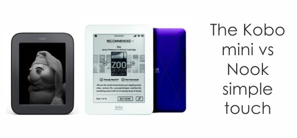 nook vs kobo Kobo Arc Tablet and Glo and Mini e readers   Review