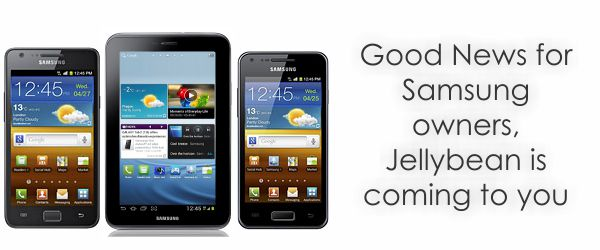 samsung jellybean Samsung reveals the list of devices that will get jellybean Update