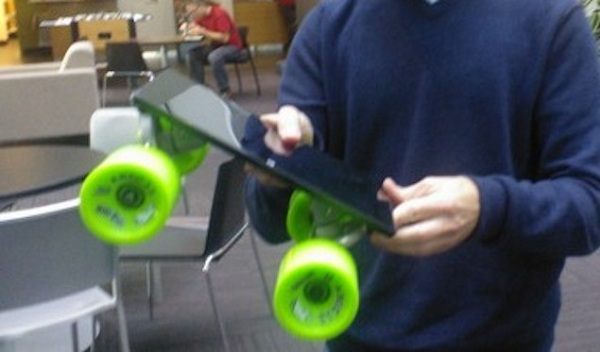 1 Microsoft event draws closer, Microsoft surfaces used as a skateboard