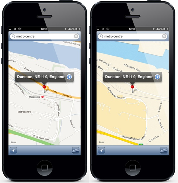 ClassicMap1 ClassicMap lets you switch between Apple and Google Maps on iOS 6