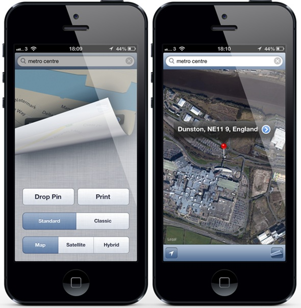 ClassicMap2 ClassicMap lets you switch between Apple and Google Maps on iOS 6