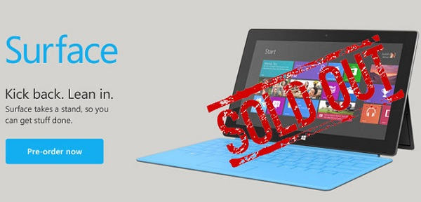 sold out Microsoft event draws closer, Microsoft surfaces used as a skateboard