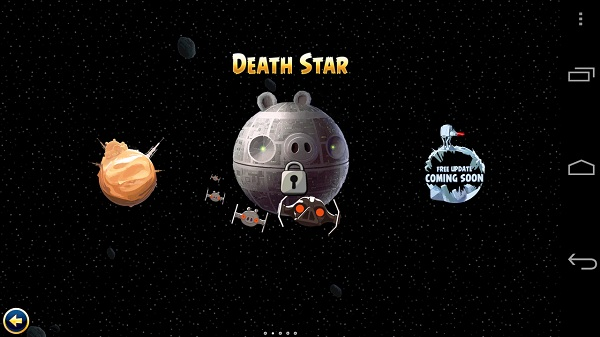 Angry birds star wars menu Angry Birds Star Wars review