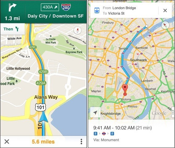 iOS6mapsGoogle Google releases Maps for iOS 6 and iPhone 5, brings back turn by turn navigation and directions