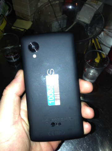 nexus 3 New Leak Shows Detailed Nexus 5   Googler Left It At Some Bar Accidentally