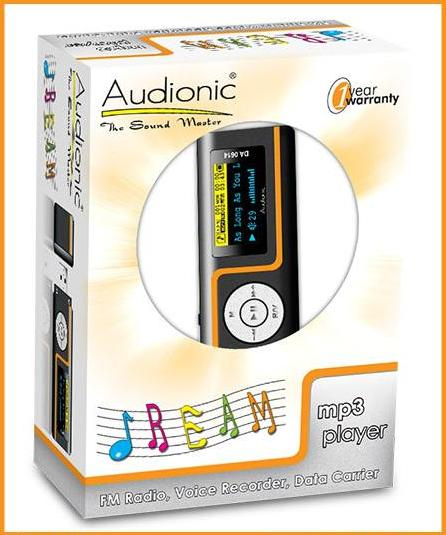audionic da 0614 pack Audionic MP3 Player   FM Radio, Voice Recorder, Data Carrier